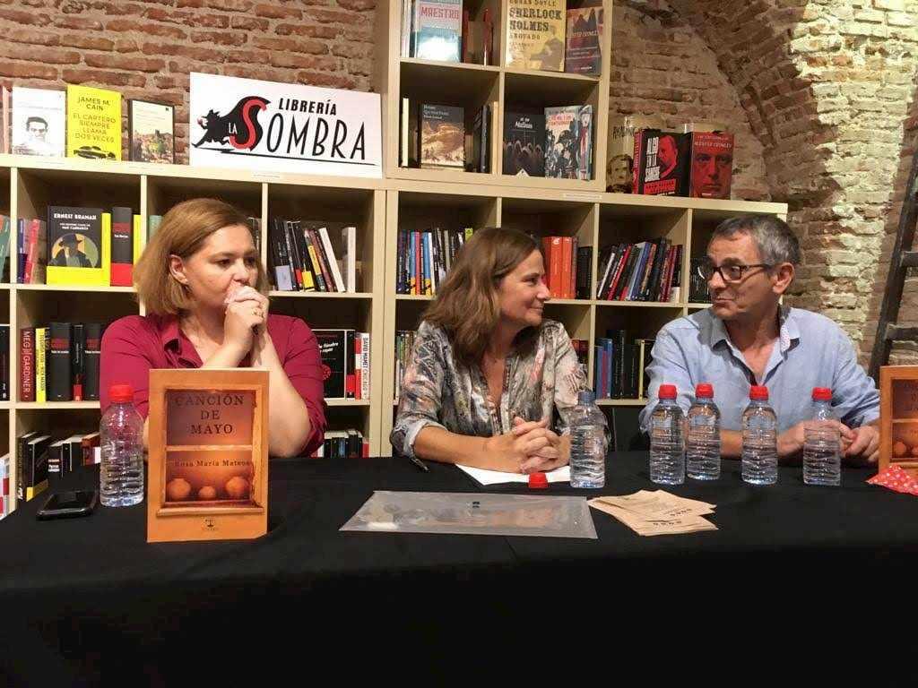 Presentación en Madrid de la novela Canción de Mayo con Iñaki Miramón